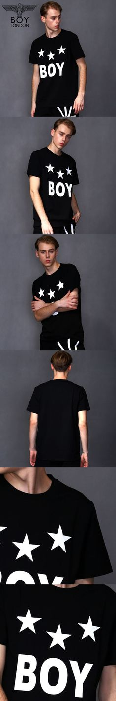 BOY LONDON Summer Cotton T Shirts Men Clothing Simple Cozy Short Sleeve Tops Slim Fit Male Tees Star Printed Camisa Masculina