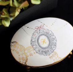 Ribbon couture Riche本校 Le lien 名古屋ポーセラーツ・フラワー・リボンサロン | Porcelarts - http://le-lien723.wix.com/le-lien#!-/c22u2