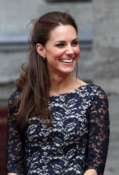 Kate Middleton laughing at Prince William speaking French. LOL.