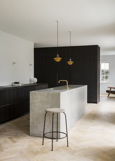 The Historic Villa Once Home to Poul Henningsen Receives a Modern #Renovation - Dwell #kitchen #minimalist #normarchitects #copenhagen