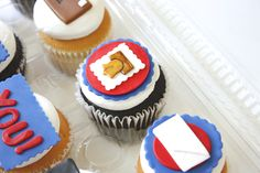 More post office inspired cupcakes!