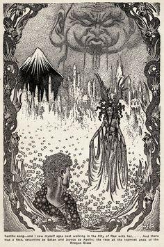 """Virgil Finlay (1914-1971), """"Fantastic Novels"""", Vol. 1, #2, 1940"""