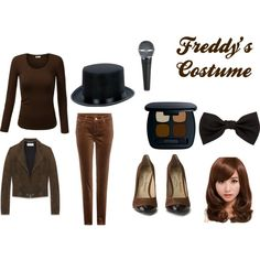 Freddy cosplay by fnaf-team142 on Polyvore featuring J.TOMSON, Yves Saint Laurent, Loro Piana, Vivienne Westwood, Lanvin and Bare Escentuals