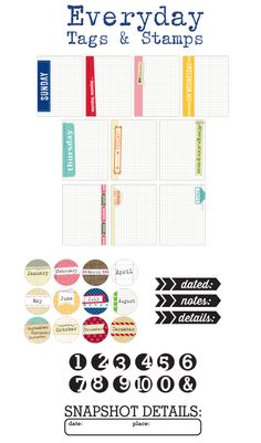 elle's studio-- everyday tags and stamps (these will be necessary!!)