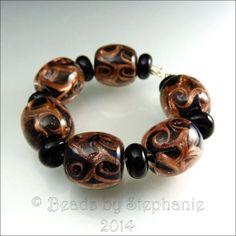 INNER DEPTH  Goldstone and Black Glass Beads  by beadsbystephanie, $48.00