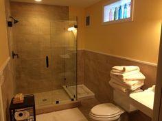 Basement bath room, custom tile shower by Better Built Basement