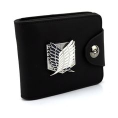 Limited Time Offer: FREE SHIPPING!  Keep your money safe with this Attack On Titan wallet/purse. It features a beautiful chrome Attack On Titan logo that is very stylish and made of high quality PU leather. Let everyone know you are a true Attack On Titan fanboy!