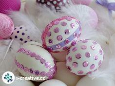 flitrová velikonoční vajíčka Easter Eggs, How To Make, Holidays, Eggs, Door Wreaths, Holidays Events, Holiday, Vacation, Annual Leave