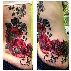 Side tattoo by meghan patrick side tattoos, cover up tattoos, tatoo Flower Tattoo On Side, Flower Tattoo Drawings, Flower Tattoo Shoulder, Flower Tattoo Designs, Flower Tattoos, Butterfly Tattoos, Side Tattoos, Cover Up Tattoos, Tattoos For Guys
