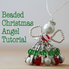 After many requests, I have created a step-by-step tutorial for this Beaded Christmas Angel with plenty of time for this year's Christmas crafting!