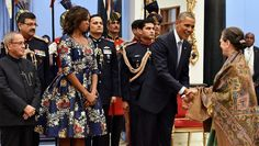 Obamas in India! Love FLOTUS Dress <3