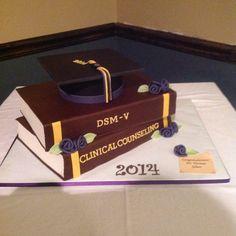 Counseling PhD graduation cake