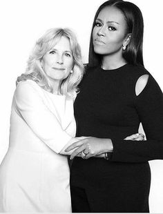 ( Michelle Obama and Jill Biden ) Remember when these ladies bonded and worked diligently together? Great Women, Amazing Women, Joe Biden, First Black President, Vice President, Barak And Michelle Obama, Durham, Presidente Obama, Barack Obama Family
