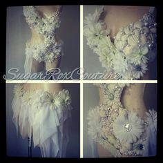 Sensation white, ocean of white outfit! SugarRoxCouture.com