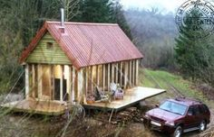 Cabin With Fold-out Porches. Provides an extra layer of security with a full wall over the outside, also provides additional space without compromising mobility for a trailer... but I'm pinning for the Rodeo.