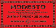 Modesto - Desktop font « MyFonts