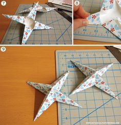 Hanging Holiday Stars DIY - #diy, #hangingstars