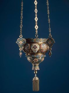 """""""Pendant Icon Lamp"""" Workshop of N. Alexeyev by Master Craftsman Andrey Alexeyev, Imperial Russia, Artefacts Ukraine, Architectural Sculpture, Russian Icons, Hermitage Museum, Imperial Russia, Oil Lamps, Vase, Islamic Art, Queen"""