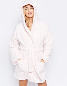 A fluffy robe that'll turn you into a bear ($31).