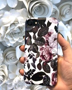 Florals everywhere Shadow Blossom Case for iPhone 8/7, iPhone 8 Plus/7 Plus & iPhone X from Elemental Cases #shadowblossom #florals #elementalcases available for #iphone8 #iphone8plus #iphonex #iphone7 #iphone7plus