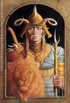 Tah y Leonpao - Dios guerrero y su Aliado / Hernan Valdovinos.