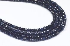 """SALE 8"""" 2mm to 4mm Sapphire dark blue faceted beads SA003  DARK BLUE COLOR SAPPHIRE GEMSTONE BEADS,WELL POLISHED GEMSTONE, BEADS FROM GEMROCKAUCTIONS"""
