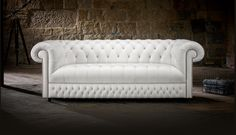 """Her name is """"Belgravia"""".  She is handcrafted in Britain and is a timeless Chesterfield."""