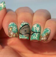 Instagram @Kells_Hotz #nails #makeup #fashion #ocean #stingray #teal #bright #swim