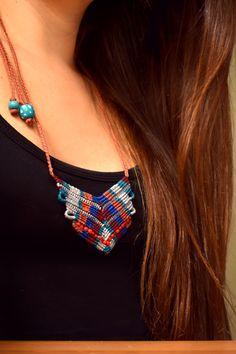 macrame necklace • colorful • ethnic