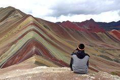 Foto no trekking ao Cerro de Colores (ou Rainbow Mountains), a montanha colorida perto de Cusco, no Peru.  Post: Mochilão no Peru: Dia 21   Diário de Bordo