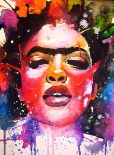 Friduchita  watercolors and ink on paper   my art