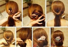 Trends of easy, fast and elegant hairstyles more sought after easy hairstyle for summer Fast Hairstyles, Elegant Hairstyles, Pretty Hairstyles, Straight Hairstyles, Hairstyle Ideas, Elegance Hair, Hair Dos, Hair Hacks, Hair Trends