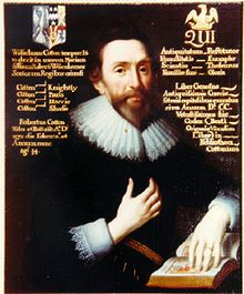 """Sir Robert Cotton, 1st Baronet, of Connington He helped devise the institution of the title baronet as a means for King James I to raise funds. Despite an early period of goodwill with King James, his approach to public life was essentially based on that """"sacred obligation of the king to put his trust in parliaments"""" which in 1628 was expressed in his monograph The Dangers wherein the Kingdom now standeth, and the Remedye."""