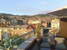 Rooftop terrace from the City Boutique Hotel Sarajevo by Kevglobal, via Flickr