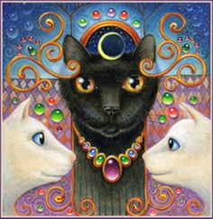 Cat Art...=^.^=...<3...By Artist Randal Spangler...