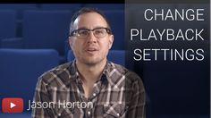 change playback settings ft. Jason Horton > Ändern der Wiedergabeeinstellungen ft. Jason Horton
