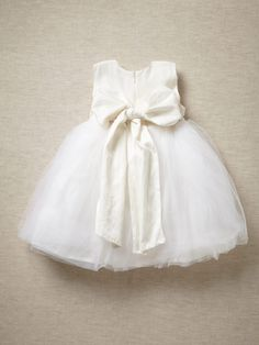sweet little dress with a big bow on the back