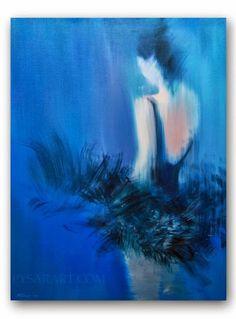#Ballet #Dancer Art #Giclee Print Blue #Canvas Art of by Yuri Pysar