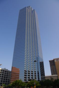 Bank of America Plaza is the tallest building in Dallas and the third tallest building in Texas at 921 feet and 72 floors.