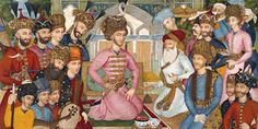 Islamic Persia: Shah Abbas II _ Possibly a wall painting _ Safavid Period