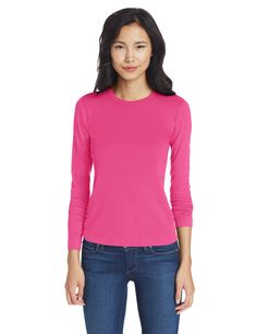 Three Dots Women's L Crewneck, Pink Hibiscus, S