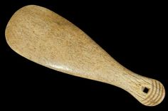 A late century quality whalebone Maori club (patu paraoa) with four grooves, square thong hole. (Thick body when viewed side on). Thick Body, Majestic Animals, 18th Century, Club, Cool Stuff, Antiques, Maori, Antiquities, Antique
