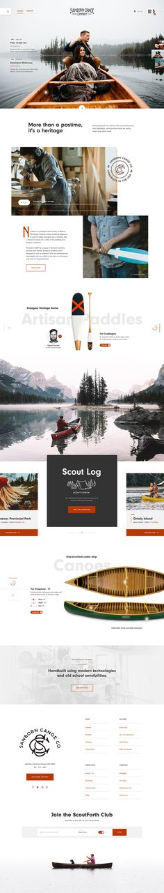 Sanborn Canoe Co. by Taylor Perrin. If you're a user experience professional… Sanborn Canoe Co. by Taylor Perrin. Ui Ux Design, Layout Design, Layout Web, Modern Web Design, Web Design Tips, Web Design Trends, Website Layout, Flat Design, Dot Website