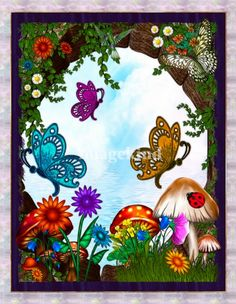 Spring Garden Whimsical Fantasy  by Renee Lozen, Palm Harbor