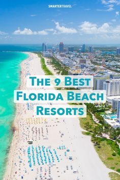 Florida may be synonymous with sun and sand, but only a few resorts actually put you right on the beach. From a top-notch spa to a secluded island, here are the very best Florida beach resorts based on beach access, amenities, and ratings from past guests Florida Resorts, Florida Vacation, Florida Travel, Florida Beaches, Beach Resorts, Florida Trips, Pensacola Florida, Beach Hotels, South Florida