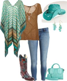 """""""Navajo Poncho"""" by ding1 on Polyvore"""