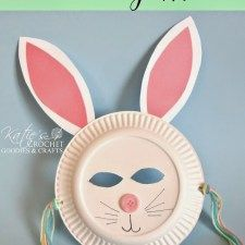 Easy Paper Plate Bunny Craft