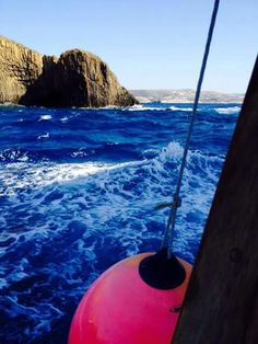 Rough sea heading to adamas