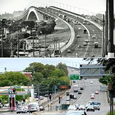 The #Gladesville Bridge & surrounds, 1965 & 2017. Photo: K.Sundgren #sydney #history http://fat.ly/c6r2 (Instagram Image from @beliefmedia, 8th February 2017 3:22pm).