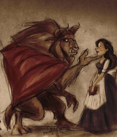 beauty and the beast art - Google Search